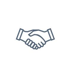 handshake icon symbol collaboration partnership vector image