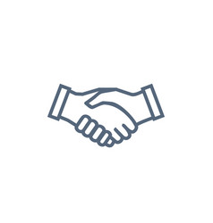Handshake icon symbol of collaboration partnership vector