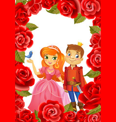 Happy birthday princess and prince greeting card vector