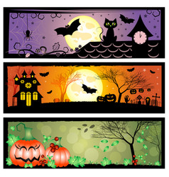 holiday banners for halloween vector image