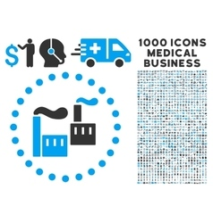Industry Icon with 1000 Medical Business vector