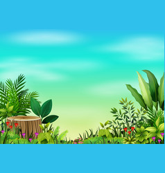 Landscape views of mountains in the forest vector