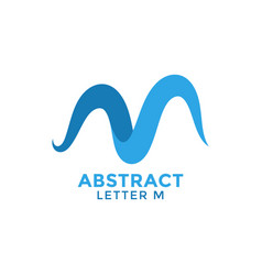 letter m abstract graphic design template vector image