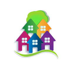 logo house apartments vector image