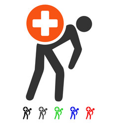 Medication courier flat icon vector