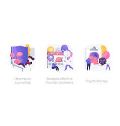 Mental disorder treatment concept metaphors vector
