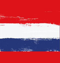 netherlands colorful brush strokes flag vector image