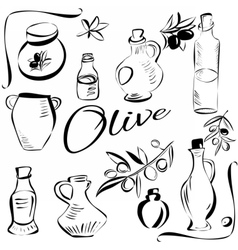 olivesketch vector image