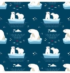 Polar teddy-bear seamless pattern vector image