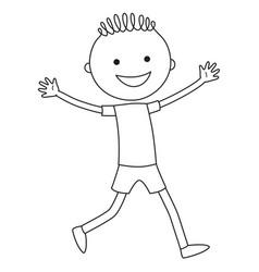 running boy vector image