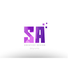Sa s a pink alphabet letter logo combination with vector