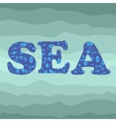 Shell Silhouette Decorative Letters Sea vector