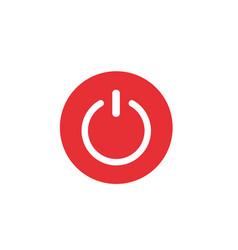 shut down button vector image
