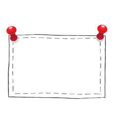 Simple square frame with pushpins vector