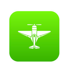 Small plane icon simple style vector