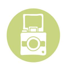Snapshot camera block style icon vector