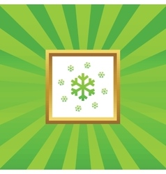 Snow picture icon vector
