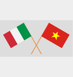 Socialist republic of vietnam and italy flags vector