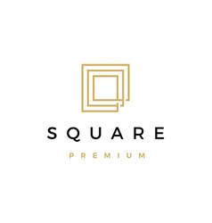 square logo icon vector image