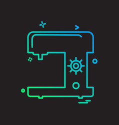 swing machine icon design vector image