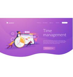 Time management landing page concept vector