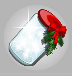 transparent jar of glass with a luminous gaseous vector image