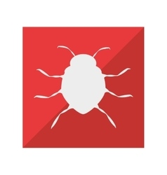 Virus infection bug icon vector