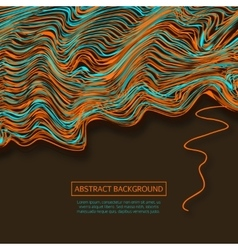 Warped lines backgroundColorful abstract vector