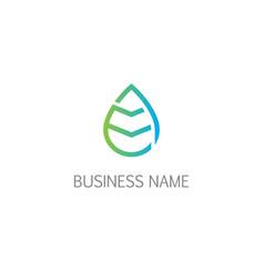 waterdrop leaf bio organic logo vector image