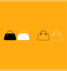 woman bag it is white icon vector image