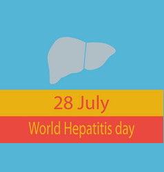world hepatitis day vector image