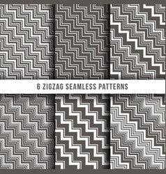 diagonal zigzag line seamless pinstripe vector image