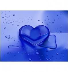 heart droplet vector image vector image