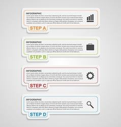 Modern paper infographic options banner design vector
