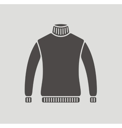 Sweater icon on background vector image