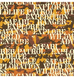 Written camouflage vector image vector image