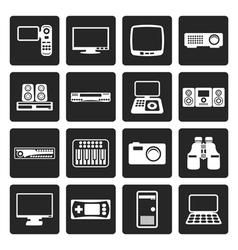 Black Hi-tech equipment icons vector image