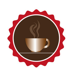 coffee cup drink isolated icon vector image