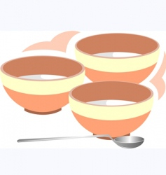 music bowl and spoon vector image vector image
