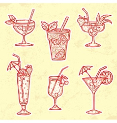 Party drinks set vector