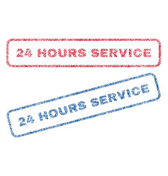 24 hours service textile stamps vector image