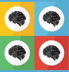 brain icon flat design vector image