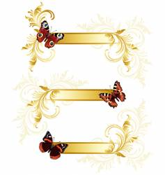 butterfly banners vector image