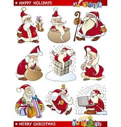 Cartoon Set of Christmas Themes vector image vector image