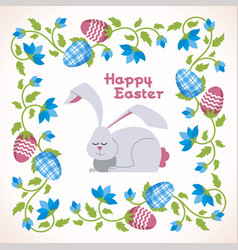 happy easter - modern square card vector image