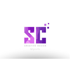 Sc s c pink alphabet letter logo combination with vector