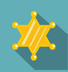 sheriff star icon flat style vector image vector image