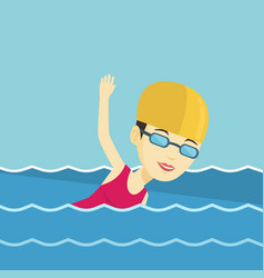 woman swimming vector image