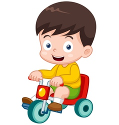 boy on a bicycle vector image