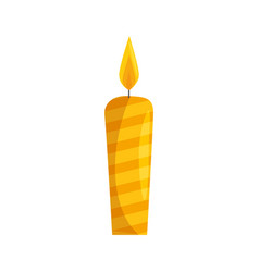 candle fire light vector image